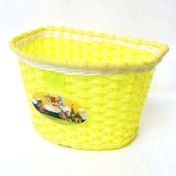 Корзина для детского велосипеда (пластик, желтая)