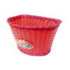 Корзина для детского велосипеда (пластик, красная)